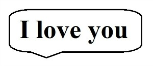 I Love You speech bubble