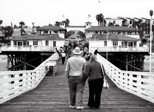 older couple in distance