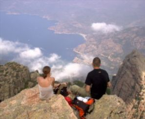 couple sitting on overlook