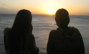 expressing sympathy girls silhouette