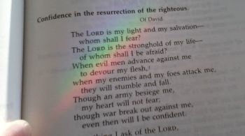 The Lord is my light and salvation