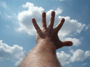 hand reaching for the sky