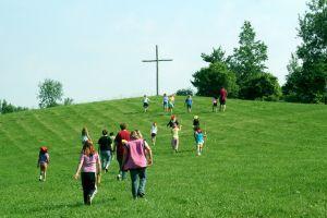 walking to the cross